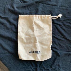 Jacquemus logo linen off white bag
